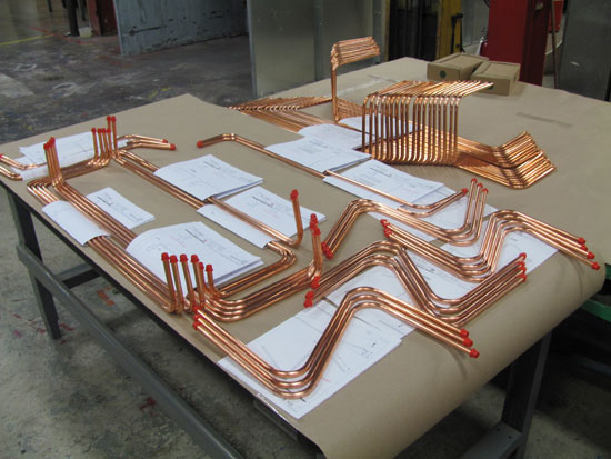 Picture of the copper tubes