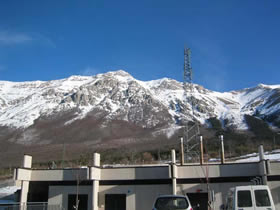 Photo of mountains where CUORE will be deployed